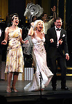 Rachel York, Megan Hilty & Clarke Thorell.during the final performance Curtain Call for the New York City Center ENCORES! Production of 'Gentlemen Prefers Blondes' at City Center in New York City on 5/13/2012.