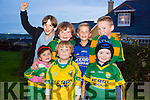 The Home Coming -The Kerry Minor Team are Welcomed back to Dingle on Tuesday by l-r Leah Moran, Zack Kennedy and Harry O'Dowd. Back l-r Alan Shearer, Max Kennedy, Kiernan Kennedy and James Hoare.
