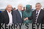 Pictured at the unveiling of Mickos statue on Saturday evening last were l-r; Arthur French, Minister Jimmy Deenihan and Mick O'Dwyer.