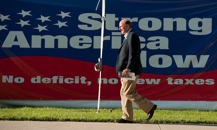 UNITED STATES - AUGUST 11:  Rep. Louie Gohmert, R-Texas, arrives outside of Stephens Auditorium at Iowa State University before the Republican presidential debate in Ames, Iowa.  The debate will feature eight republican candidates.   (Photo By Tom Williams/Roll Call)