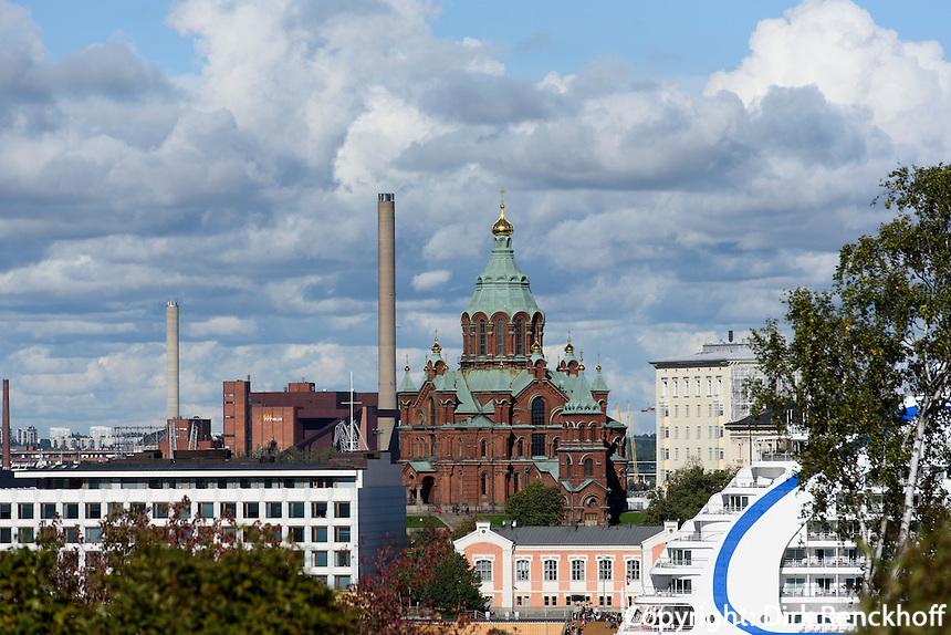 Orthodoxe Uspenski-Kathedrale und Enso-Haus, Helsinki, Finnland