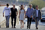"Actors Francesc Colomer (L),  Javier Camara, actress Natalia de Molina, director David Trueba and actor Jorge Sanz posse in the photocall of the ""Vivir es facil con los ojos cerrados"" film presentation during the 61 San Sebastian Film Festival, in San Sebastian, Spain. September 24, 2013. (ALTERPHOTOS/Victor Blanco)"