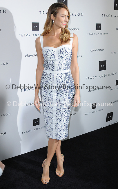 Stacy Keibler celebrates the opening of the Tracy Anderson flagship studio in Brentwood, California on April 04,2013                                                                   Copyright 2013 Hollywood Press Agency