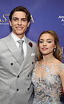Derek Klena, Christy Altomare attends Broadway Opening Night After Party for 'Anastasia' at the Mariott Marquis Hotel on April 24, 2017 in New York City.