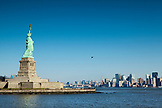USA, New York, the Statue of Liberty with New York City in the distance