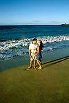 Hawaii: Maui, Young couple on beach at Kapalua, model released. Photo: himaui103  .Photo copyright Lee Foster, www.fostertravel.com, 510/549-2202, lee@fostertravel.com