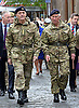 03.05.2014; Ayr, Scotland: GERALD GROSVENOR AND PRINCE CHARLES <br /> attend the The Freedom of South Ayrshire parade.<br /> Gerald Grosvenor is Honorary Colonel of the Queen's Own Yeomanry.<br /> Mandatory Photo Credit: &copy;MoD/NEWSPIX INTERNATIONAL<br /> <br /> IMMEDIATE CONFIRMATION OF USAGE REQUIRED:<br /> Newspix International, 31 Chinnery Hill, Bishop's Stortford, ENGLAND CM23 3PS<br /> Tel:+441279 324672  ; Fax: +441279656877<br /> Mobile:  07775681153<br /> e-mail: info@newspixinternational.co.uk<br /> Please refer to usage terms. All Fees Payable To Newspix International