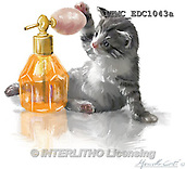 Marcello, REALISTIC ANIMALS, REALISTISCHE TIERE, ANIMALES REALISTICOS, paintings+++++,ITMCEDC1043A,#A# ,cats ,kittens
