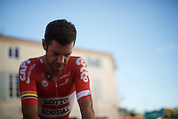 Greg Henderson (NZL/Lotto-Soudal) warming up for the TT<br /> <br /> stage 13 (ITT): Bourg-Saint-Andeol - Le Caverne de Pont (37.5km)<br /> 103rd Tour de France 2016
