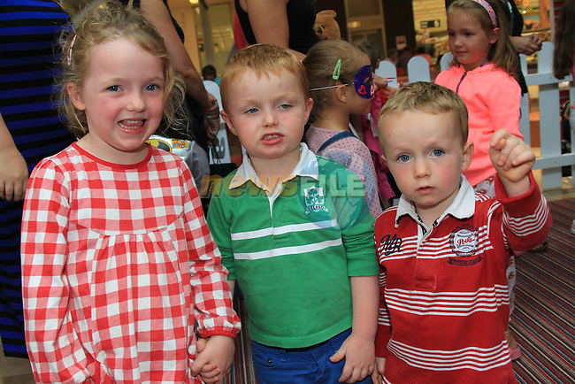 Philipa Peter and Harry McGrane<br /> at the summer fun day in scotch hall.<br /> Picture:  Fran Caffrey / www.newsfile.ie