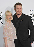 Anna Faris & husband Chris Pratt at the 2014 People's Choice Awards at the Nokia Theatre, LA Live.<br /> January 8, 2014  Los Angeles, CA<br /> Picture: Paul Smith / Featureflash