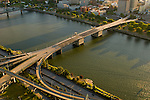 Aerial View of the Burnside Bridge, Portland, Oregon