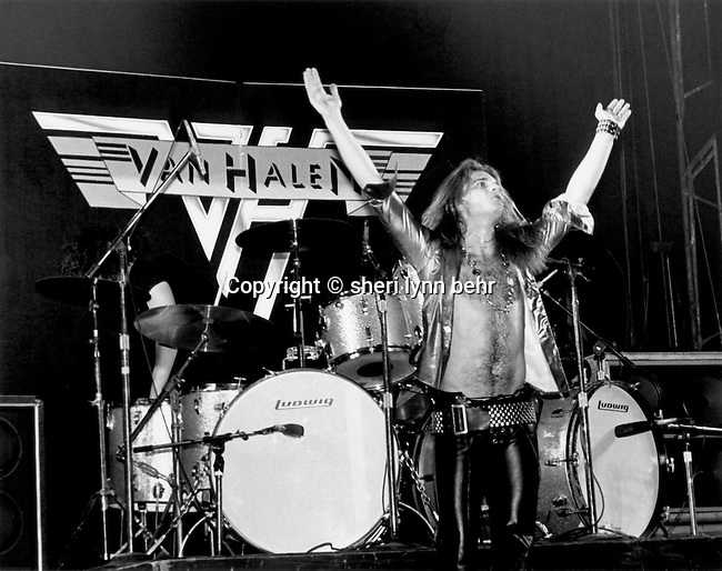 David Lee Roth of Van Halen at the Palladium, March 1978