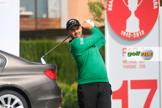 Christian Nilsson (SWE) tees off on the par3 17th hole during Friday's Round 2 of the Open de Espana at Real Club de Golf de Sevilla, Seville, Spain, 4th May 2012 (Photo Eoin Clarke/www.golffile.ie)