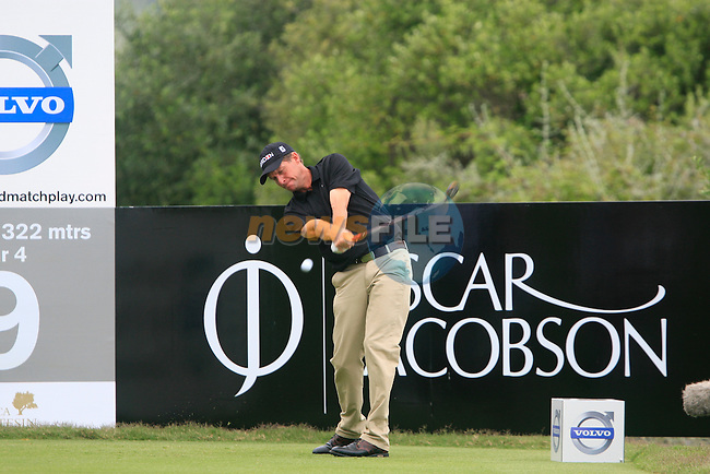 Anders Hansen (DEN) tees off on the 9th tee during Day 2 of the Volvo World Match Play Championship in Finca Cortesin, Casares, Spain, 20th May 2011. (Photo Eoin Clarke/Golffile 2011)