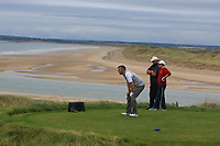 Brian Slattery (Ballybunion) on the 16th tee during the Munster Final of the AIG Junior Cup at Tralee Golf Club, Tralee, Co Kerry. 13/08/2017<br /> Picture: Golffile | Thos Caffrey<br /> <br /> <br /> All photo usage must carry mandatory copyright credit     (&copy; Golffile | Thos Caffrey)