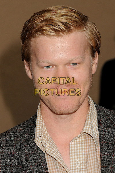 Jesse Plemons<br /> &quot;Breaking Bad&quot; Final Episodes Los Angeles Premiere Screening held at Sony Pictures Studios, Culver City, California, USA, 24th July 2013.<br /> portrait headshot brown beige checked gingham shirt <br /> CAP/ADM/BP<br /> &copy;Byron Purvis/AdMedia/Capital Pictures
