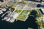 Aerial photo of Seattle's Museum of History & Industry (MOHAI) and Lake Union Park