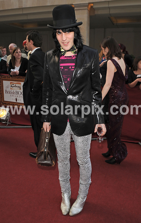 """**ALL ROUND PICTURES FROM SOLARPIX.COM**.**WORLDWIDE SYNDICATION RIGHTS**.Authors and celebrities arrive for the Galaxy British Book Awards or """"Nibbies"""" at the Grosvenor House Hotel in London..This pic:  Noel Fielding.JOB REF:  8765    SSD     DATE:  04.04.09.**MUST CREDIT SOLARPIX.COM OR DOUBLE FEE WILL BE CHARGED**.**ONLINE USAGE FEE GBP 50.00 PER PICTURE - NOTIFICATION OF USAGE TO PHOTO @ SOLARPIX.COM**.**CALL SOLARPIX : +34 952 811 768 or LOW RATE FROM UK 0844 617 7637**"""