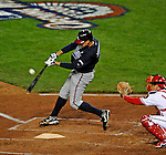 30 March 2008: Atlanta Braves' infielder Kelly Johnson in action against the Washington Nationals at Nationals Park in Washington, DC. The Nationals christened their  new ballpark with a win over the visiting Braves 3-2 in the inaugural game of the state-of-the-art sports facility...Mandatory Photo Credit: Ed Wolfstein Photo