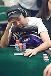 Daniel Negreanu thinks through a hand.