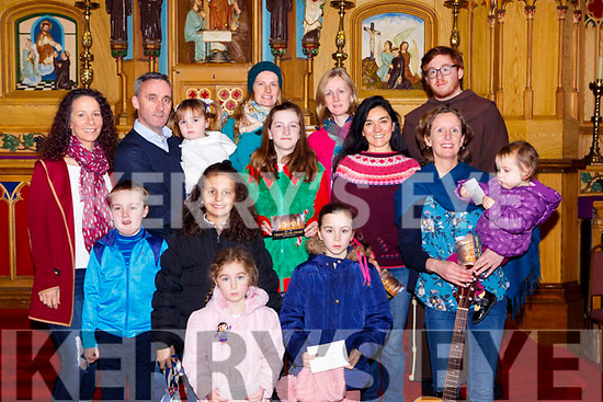Choir singers at the Killarney Friary 150th anniversary celebration mass on Friday front row l-r: Sean O'Leary, Annie Rose Vogels, Sinead, Maria, Olivia and Claire Coleman, back row: Maureen Hegarty, Derek O'Leary, Ciara O'Leary, Katrin Pietzonka, Sinead Grenne, Aileen Griffin, Jenny Vidal and Drew Keeley