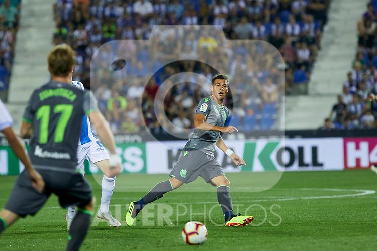 Real Sociedad's Martin Merquelanz during La Liga match. August 24, 2018. (ALTERPHOTOS/A. Perez Meca)