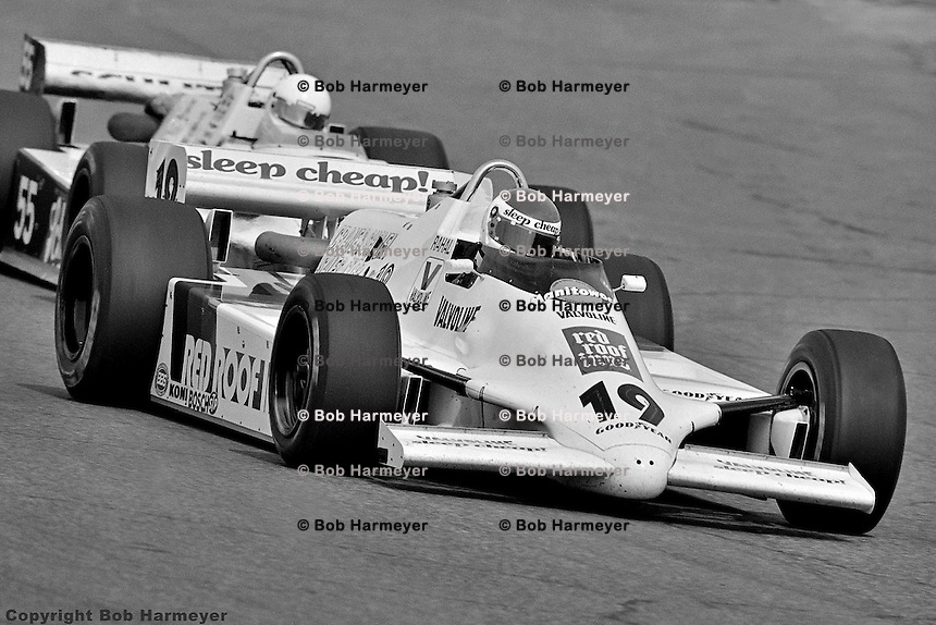PHOENIX, AZ - MARCH 28: Bobby Rahal drives a March 82C/Cosworth in his first IndyCar race on March 28, 1982, at Phoenix International Raceway near Phoenix, Arizona.