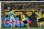 05.11.2019, Signal Iduna Park, Dortmund, GER, CL, Borussia Dortmund vs Inter Mailand<br /> , DFL regulations prohibit any use of photographs as image sequences and/or quasi-video <br /> <br /> im Bild Paco Alcacer (#9, Borussia Dortmund) jubelt nach dem Tor zum 3:2, Torschuetze Achraf Hakimi Mouh (#5, Borussia Dortmund) <br /> <br /> Foto © nordphoto/Mauelshagen