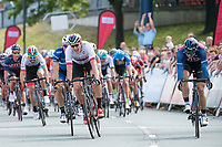 Picture by Allan McKenzie/SWpix.com - 16/07/17 - Cycling - HSBC UK British Cycling Grand Prix Series - Velo29 Altura Stockton Grand Prix - Stockton, England - JLT Condor's Brenton Jones takes the win at Stockton as Team Wiggins's Chris Latham comes second.