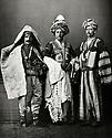 Ottoman Empire 1873  Members of Kurdish tribes, from left to right a shepherd of the provoince of Diyarbakir, center a Kurd of Mardin, right, a Kurd of Djizire     Empire Ottoman 1873 Membres de tribus kurdes, de gauche a droite, un berger de la regionde Diyarbakir, au centre, un Kurde de Mardin, a droite, un Kurde de Djizire