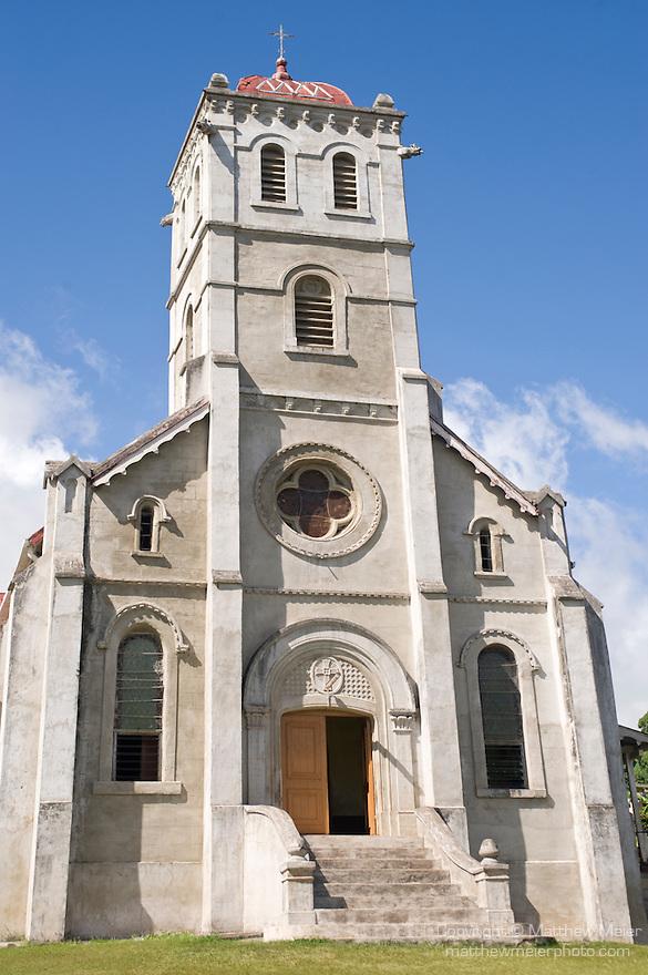 Taveuni, Fiji; an exterior view of the Wairiki Catholic Mission