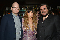 """NEW YORK - MARCH 19: Actors Mark Proksch, Natasia Demetriou and Matt Barry attend party at the Bowery Hotel Terrace following the premiere for FX Networks """"What We Do In The Shadows"""" on March 19, 2019 in New York City. (Photo by Anthony Behar/FX/PictureGroup)"""