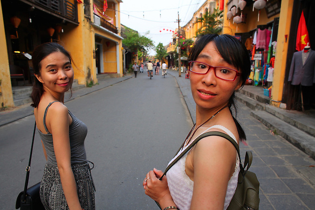 Tram and Mai. Hoi An, Vietnam. April 15, 2016.