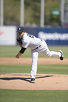 New York Yankees starting pitcher James Paxton (65) during a Grapefruit League Spring Training game against the Toronto Blue Jays on February 25, 2019 at George M. Steinbrenner Field in Tampa, Florida.  (Mike Janes/Four Seam Images)
