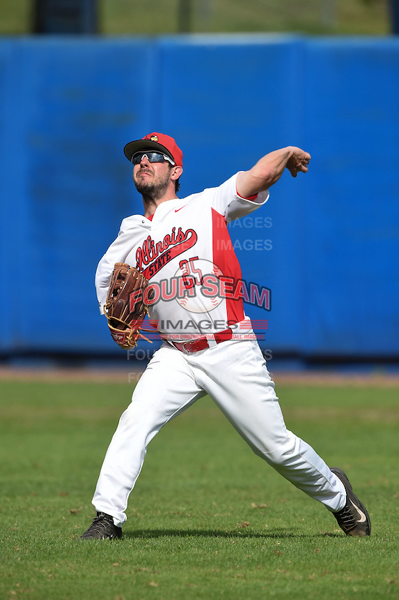 Illinois State Redbirds Jack Czeszewski (25) during practice before a game against the Bowling Green Falcons on March 11, 2015 at Chain of Lakes Stadium in Winter Haven, Florida.  Illinois State defeated Bowling Green 8-7.  (Mike Janes/Four Seam Images)