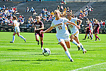 19 September 2010: University of Vermont Catamount midfielder Caitlin McGowan, a Senior from Rye, NY, in action against the Colgate University Raiders at Centennial Field in Burlington, Vermont. The Raiders scored a pair of second half goals two minutes apart to post a 2-0 victory over the Lady Cats in non-conference women's soccer play. Mandatory Credit: Ed Wolfstein Photo