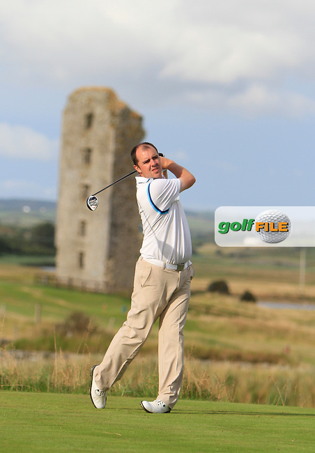 Niall Gorey (Muskerry) on the 13th tee during the South of Ireland Amateur Open Championship Second Round at Lahinch Golf Club  28th July 2013 <br /> Picture:  Thos Caffrey / www.golffile.ie