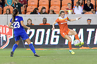 Houston, TX - Sunday Sept. 11, 2016: Kealia Ohai during a regular season National Women's Soccer League (NWSL) match between the Houston Dash and the Boston Breakers at BBVA Compass Stadium.