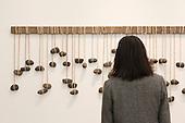 London, England. 15 October 2014. Godret Stone by Seung-taek Lee, Gallery Hyundai Seoul. Fine art fair Frieze Masters 2014 in Regent's Park, London. Photo: Bettina Strenske