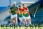 Dáithí Griffin  Kerry in action against Richard Coady Carlow in Div 2a of the National Hurling League at Austin Stack Park Tralee on Sunday.