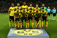 Dortmund players line up before during Tottenham Hotspur vs Borussia Dortmund, UEFA Champions League Football at Wembley Stadium on 13th February 2019
