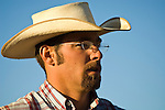 Cowby with hat and glasses, Minden Ranch Rodeo at the Douglas County Fairgrounds, Nev.