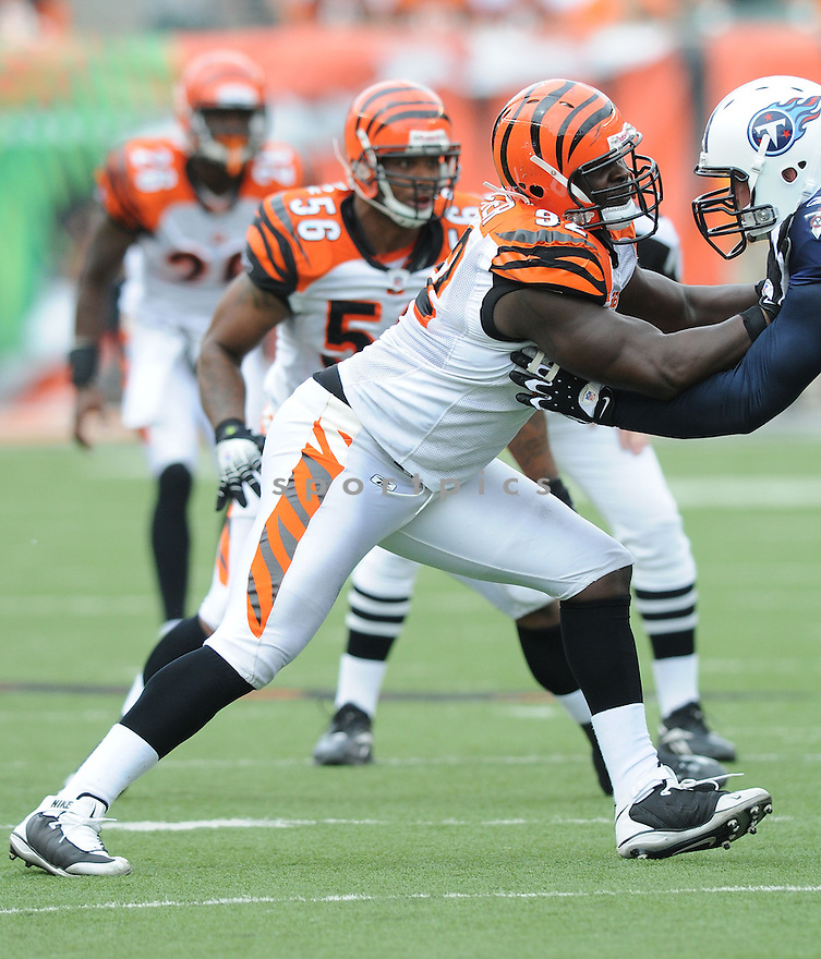 FROSTEE RUCKER, of the Cincinnati Bengals, in action during the Bengals game against the Tennessee Titans in Cincinnati , Ohio on September 15, 2008..The Tennessee Titans won 24-10