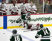 Troy Crema (Dartmouth - 9), Clay Anderson (Harvard - 5) - The Harvard University Crimson defeated the Dartmouth College Big Green 5-2 to sweep their weekend series on Sunday, November 1, 2015, at Bright-Landry Hockey Center in Boston, Massachusetts. -