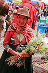 A Peruvian woman at the Pisca market.