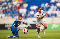 Trinidad and Tobago defender Carlos Edwards (11) during a CONCACAF Gold Cup group B match at Red Bull Arena in Harrison, NJ, on July 8, 2013.