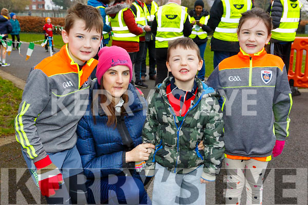 Paddy, Emma, Robbie and Isabelle Larkin from Listowel, attending the Junior Parkrun in the Tralee Town park on Sunday morning last.