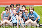 RUNNERS: Taking part in the  Juvenile under 10 & 12 Games and under 13 & 14 Championships at the Athletic Association of Ireland, at Castleisland Riocht Track, on Saturday were members of St Brendans Athletic Club, Ardfert. Nora Nolan, Kayleagh O'Carroll, Maurice O'Carroll, Jenny O'Mahony, Una Marley, Sophie Wolff, Katie O'Riordan and Edward Nolan..