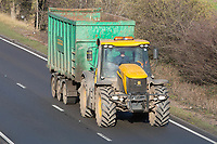 JCB Fastrac  traveling on the A1<br /> &copy;Tim Scrivener Photographer 07850 303986<br />      ....Covering Agriculture In The UK....